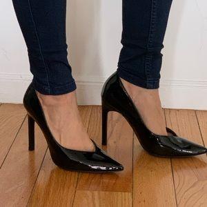 Zara black patent leather pumps